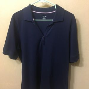 Izod Navy Polo Shirt with Pearl Buttons